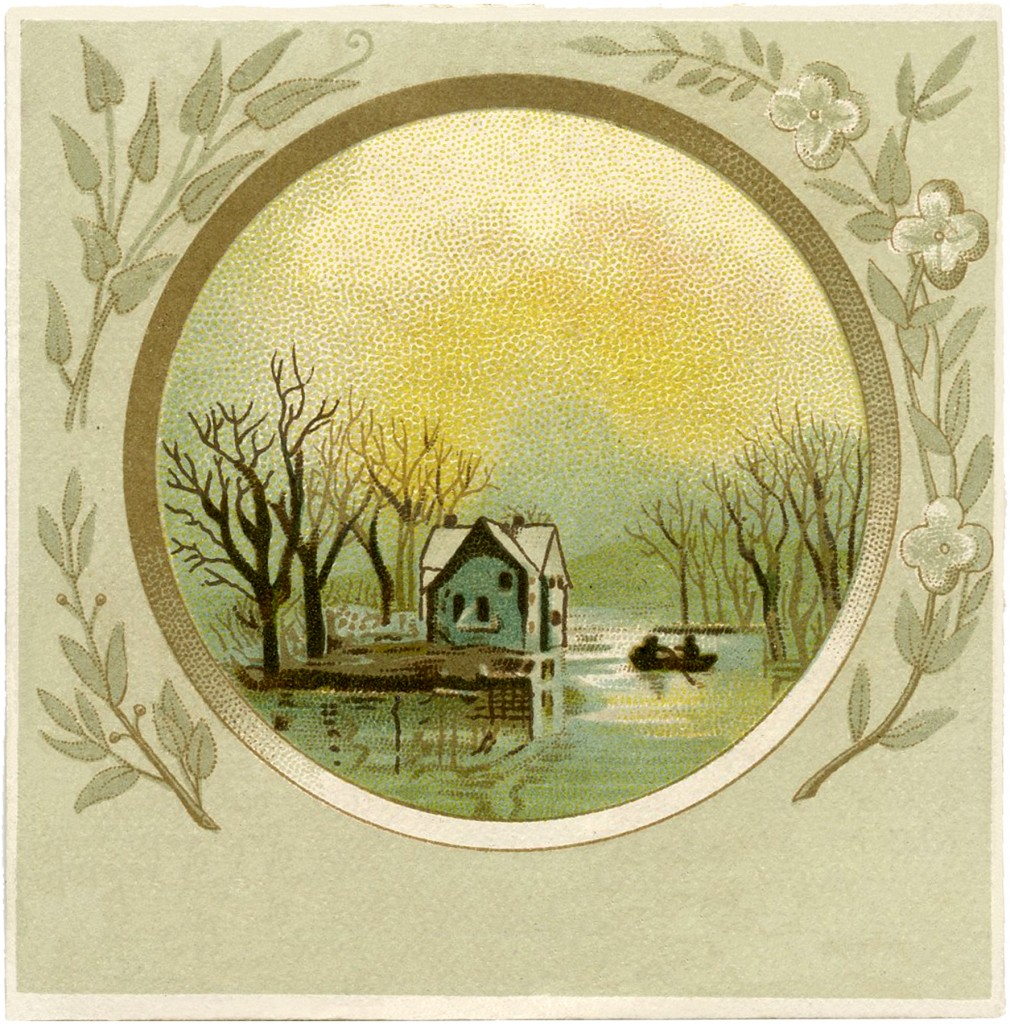 Cottage on River Image