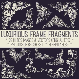 Fabulous Frame Fragments Kit! Graphics Fairy Premium