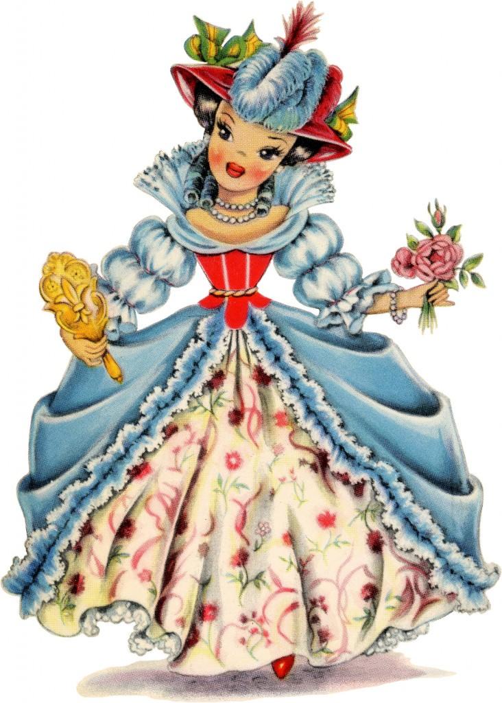 Retro France Doll Image