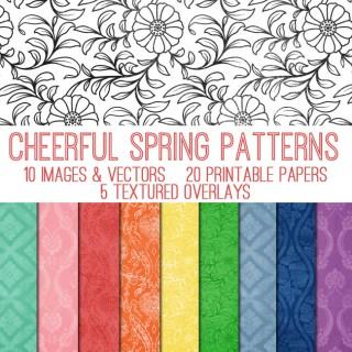 Cheerful Spring Patterns Kit! TGF Premium