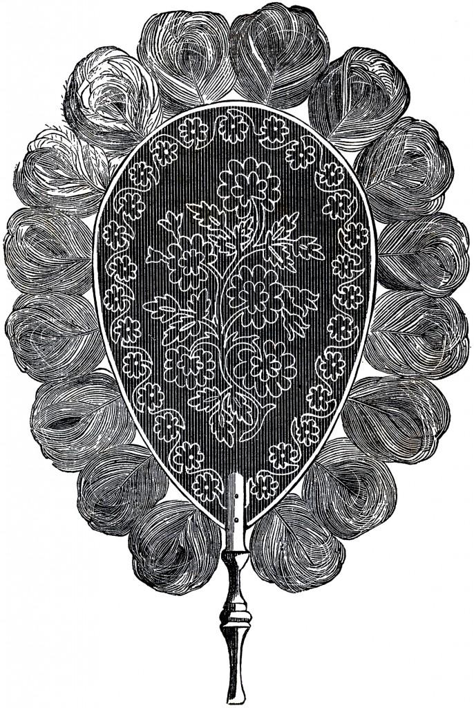 Victorian Feather Fan