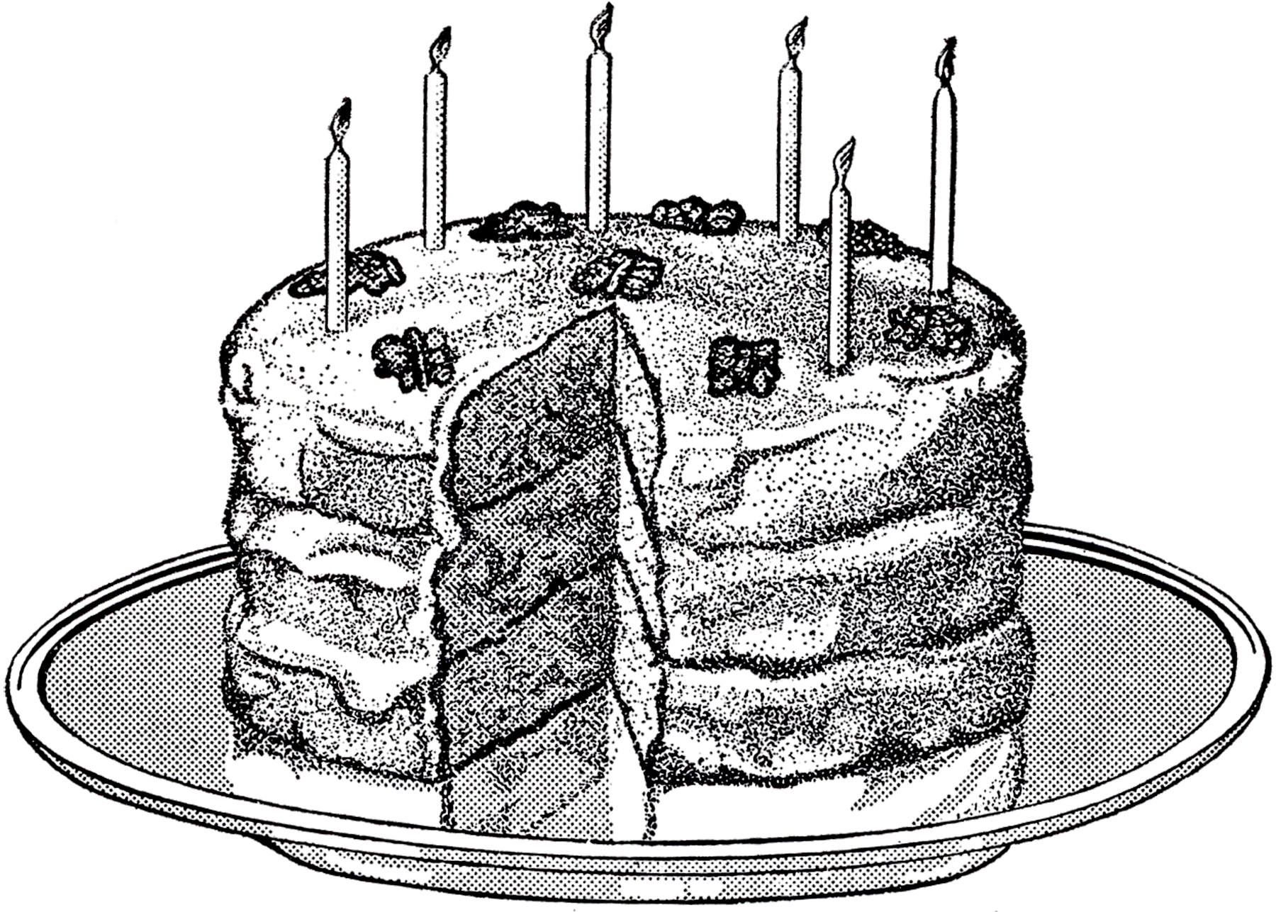 Vintage Birthday Cake Image The Graphics Fairy