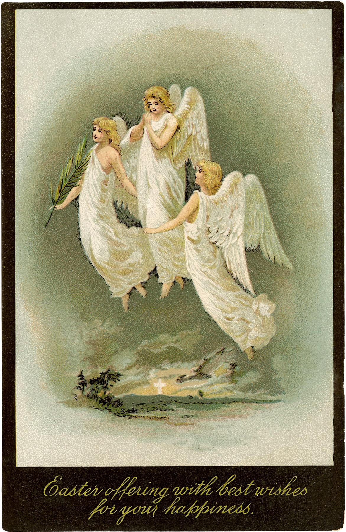 Vintage Easter Angels Image