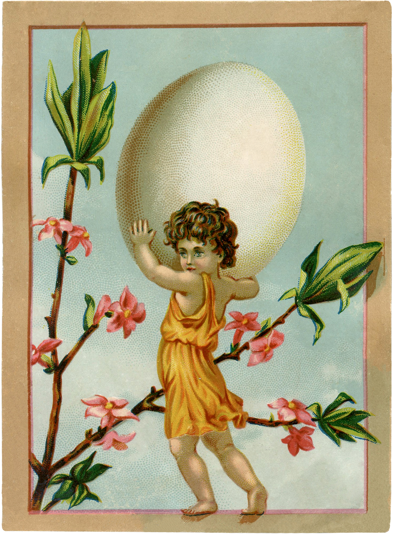 vintage easter egg fairy image