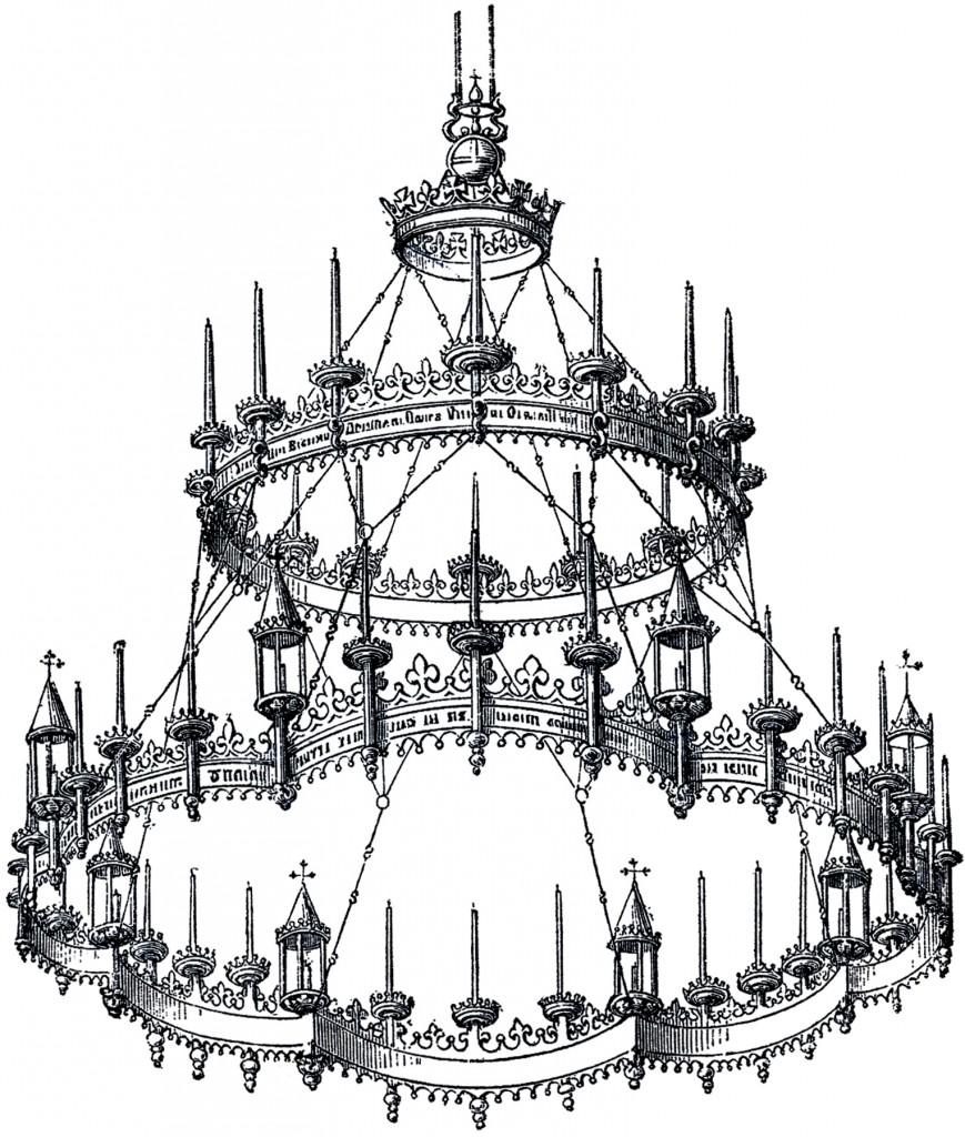 Fabulous Vintage Gothic Chandelier