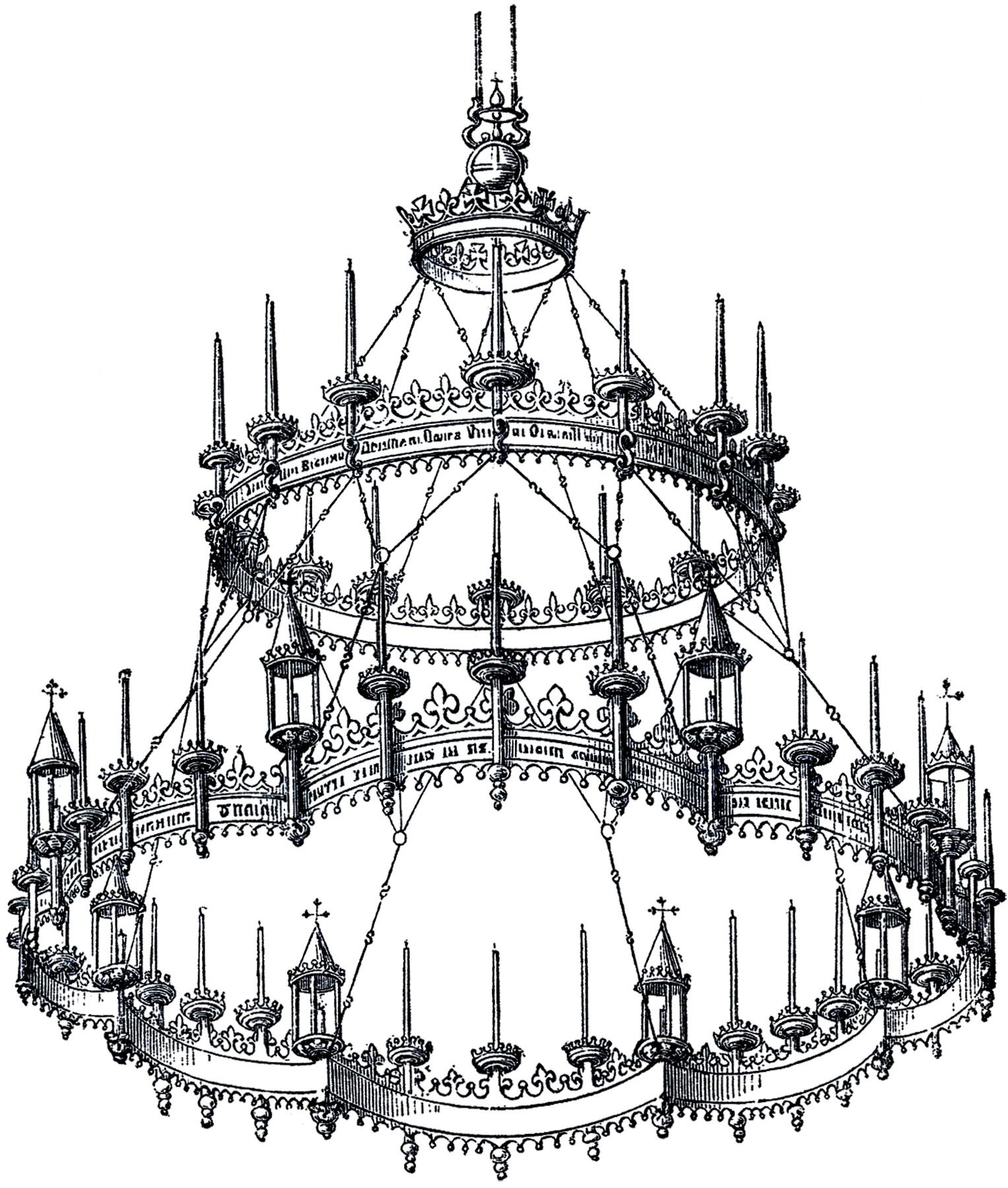 Vintage gothic chandelier the graphics fairy vintage gothic chandelier mozeypictures Gallery