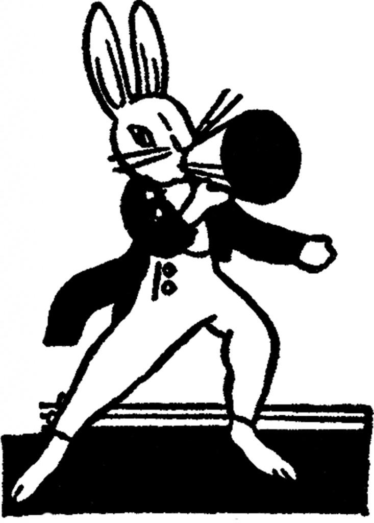 Vintage Megaphone Bunny Image