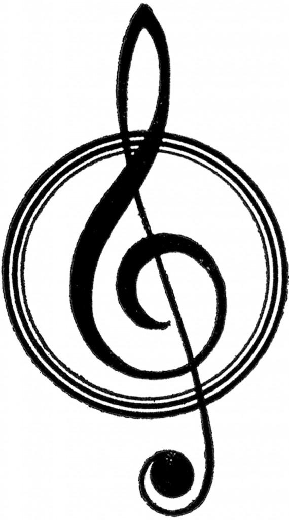 Vintage Music Clef Symbol
