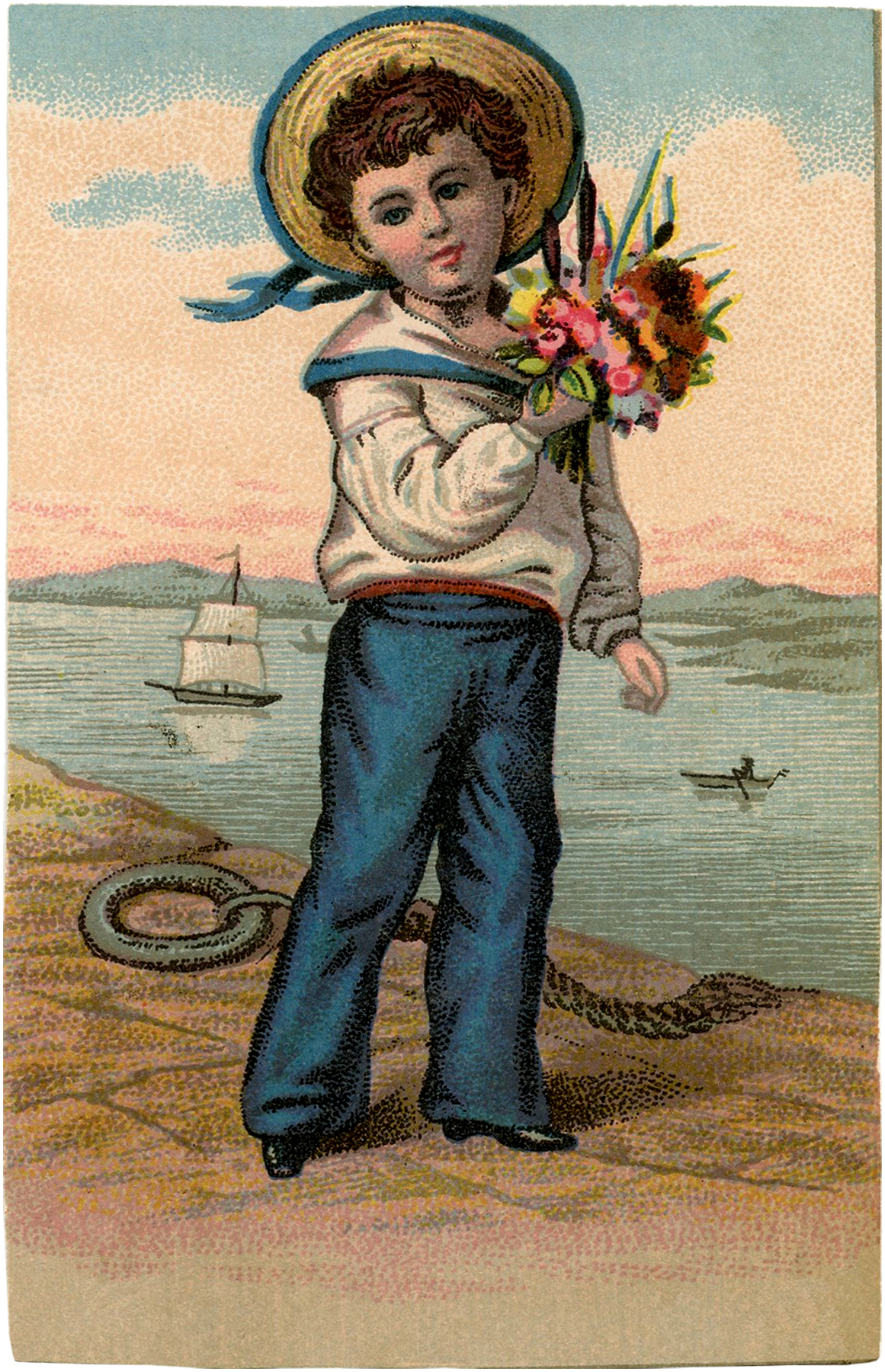 Sweet Vintage Sailor Boy Picture! - The Graphics Fairy: https://thegraphicsfairy.com/sweet-vintage-sailor-boy-picture/