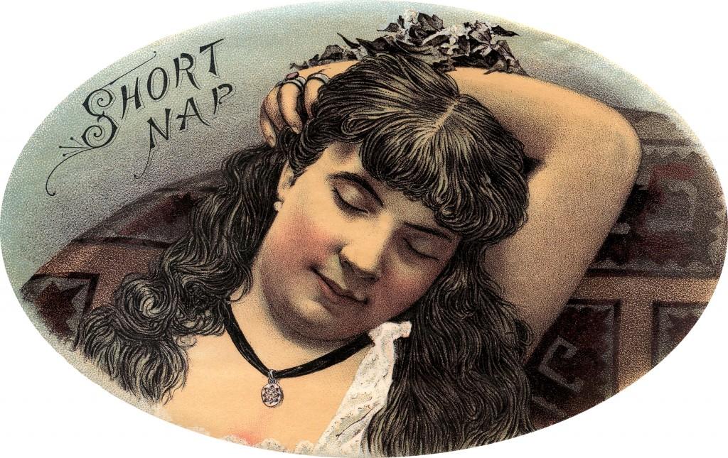 Vintage Sleeping Lady Image