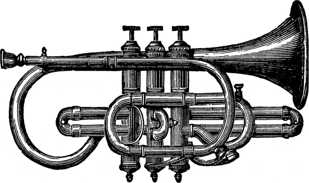 Vintage Trumpet Image