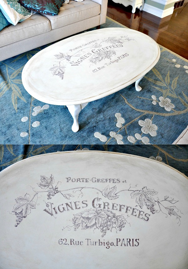 Todayu0027s Reader Feature Was Submitted By Gwynn, Who Shared Her Gorgeous DIY  Vineyard Themed Coffee Table! She Combined Three Wonderful Vintage Graphics  ...