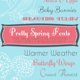 Favorite Pretty Spring Fonts