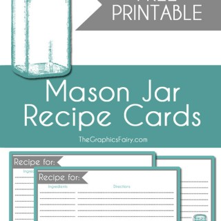 Mason Jar Recipe Card Printable!