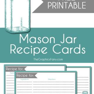 Mason Jar Recipe Card Printable!