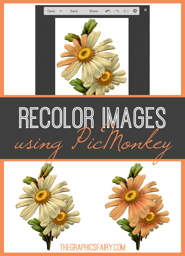Recolor Images Using PicMonkey // Graphics Fairy