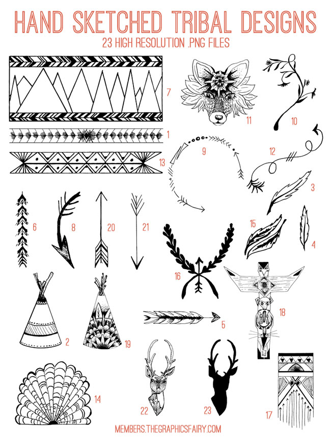 tribal_designs_image_list_graphicsfairy