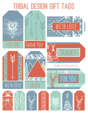 tribal_gift_tags_graphicsfairy