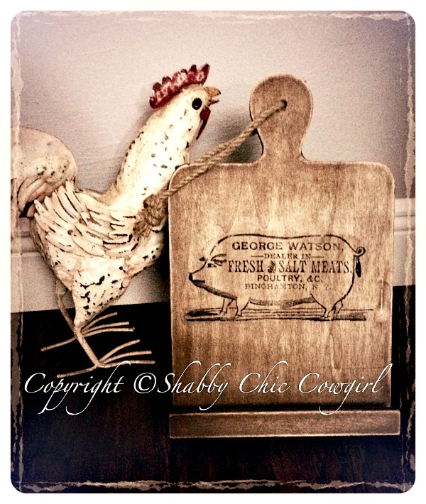 02 - Shabby Chic Cowgirl - DIY Cookbook Stand