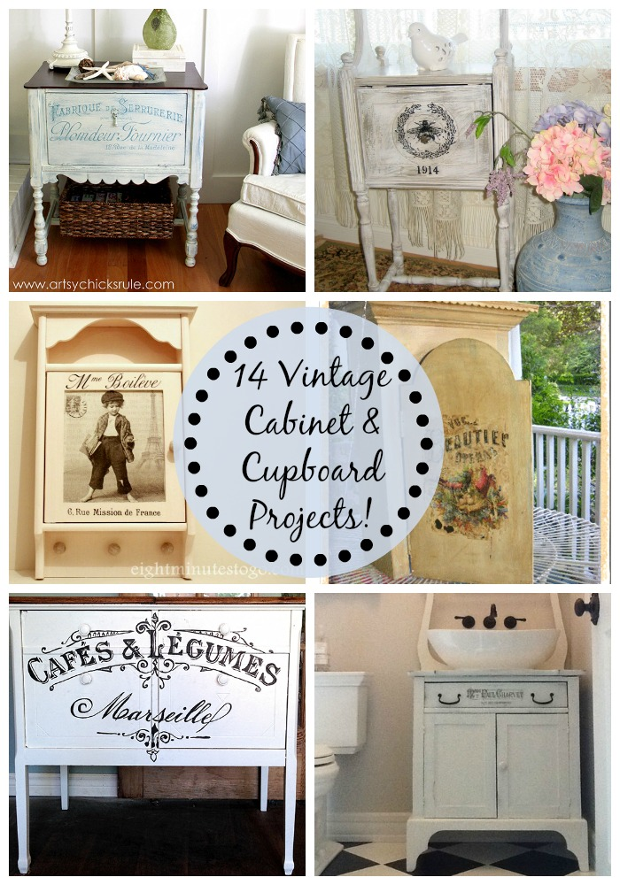 14 Vintage Cabinet & Cupboard Projects!