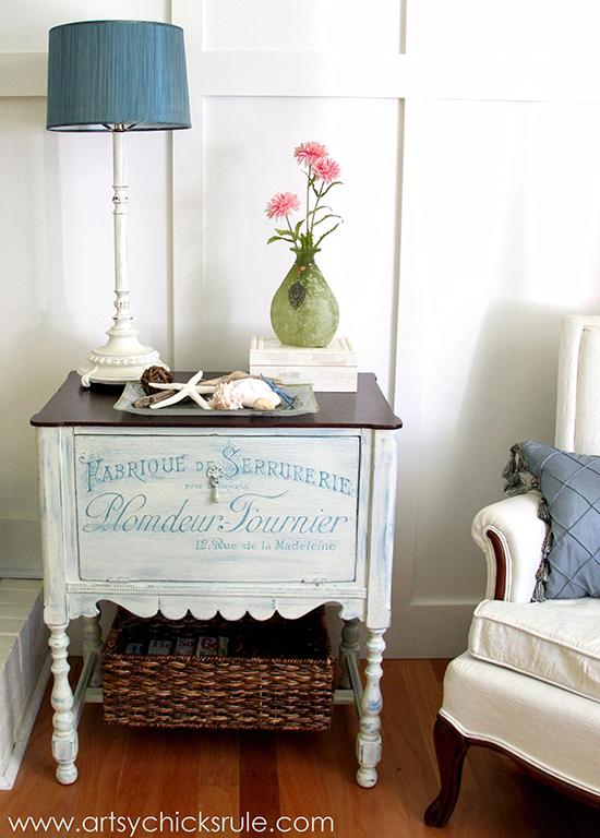 Artsy Chicks Rule - DIY painted Cabinet