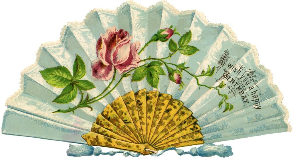 Free Victorian Fan Image