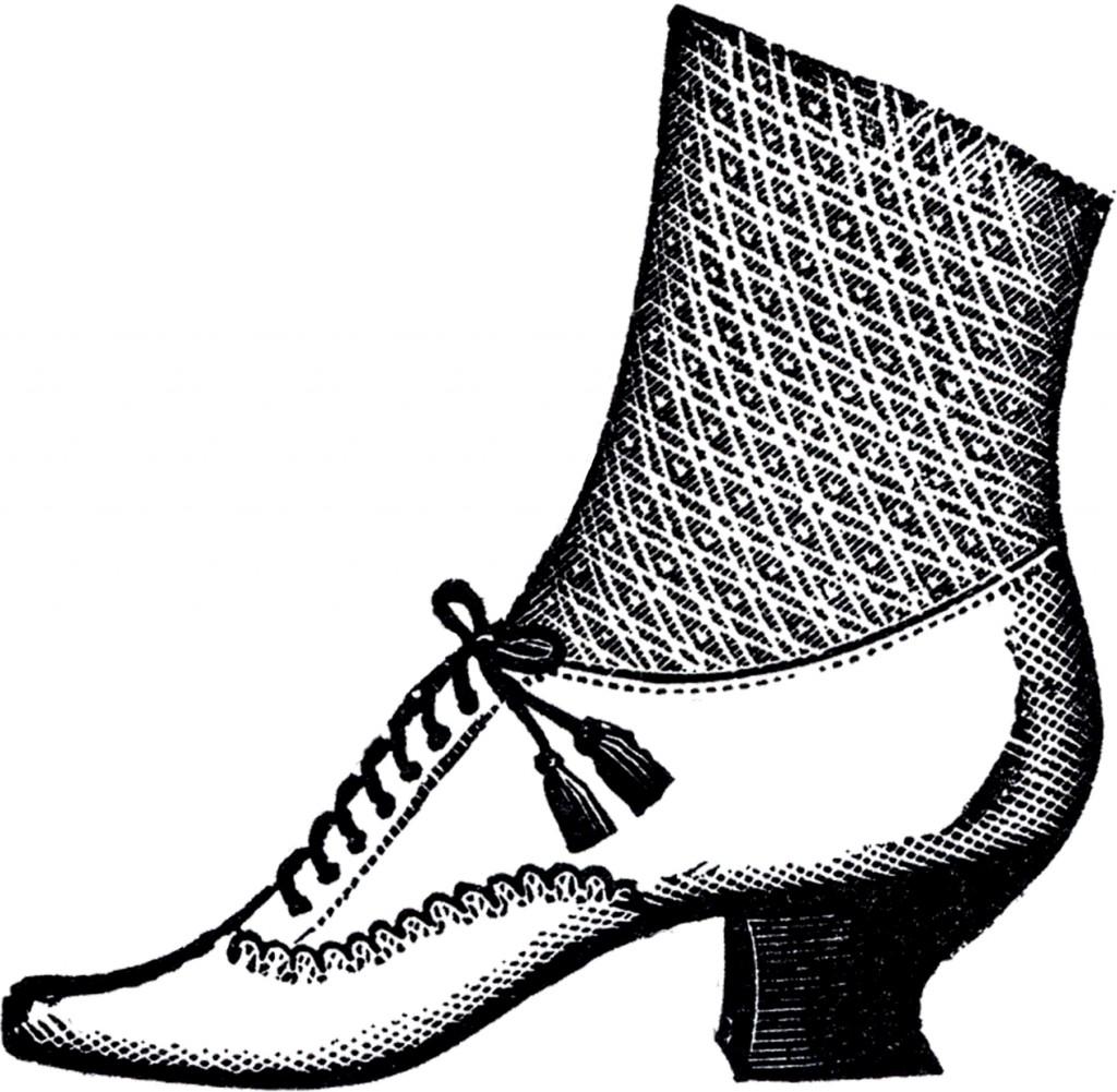 Ladies Victorian Shoe Image
