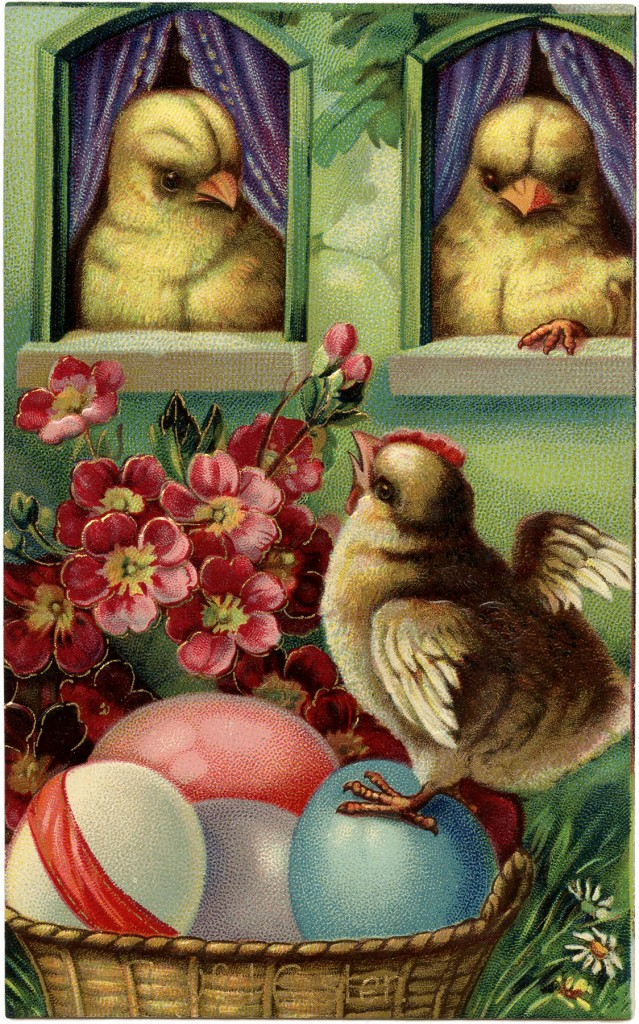 Precious Peeps Easter Postcard