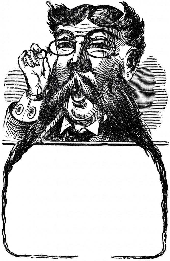 Vintage Mustache Man Image
