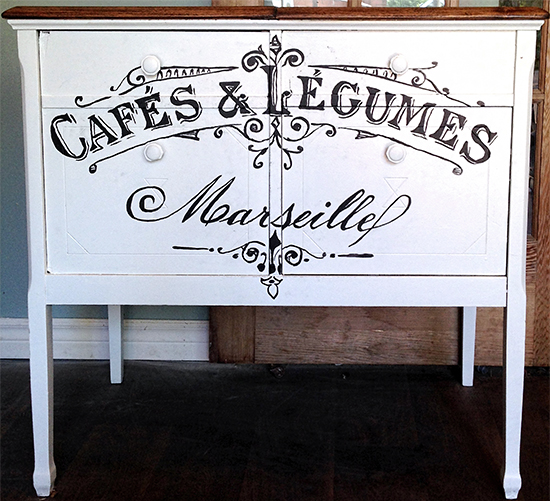 Repurposed Gems - French Cabinet
