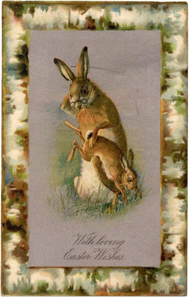 Vintage Bunny Spanking Image