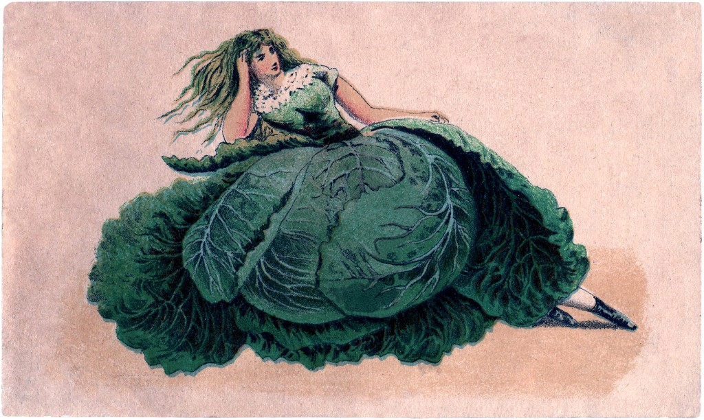 Vintage Cabbage Lady Image
