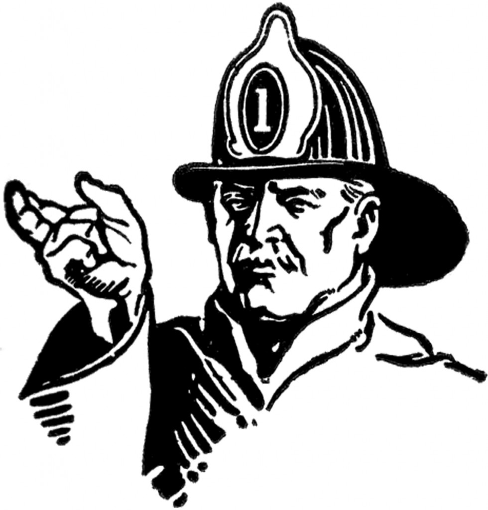 Vintage Fireman Image