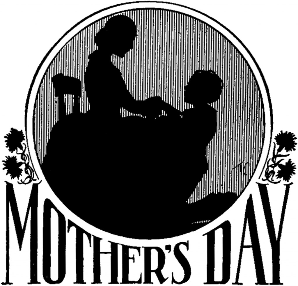 Vintage Mother's Day Silhouette