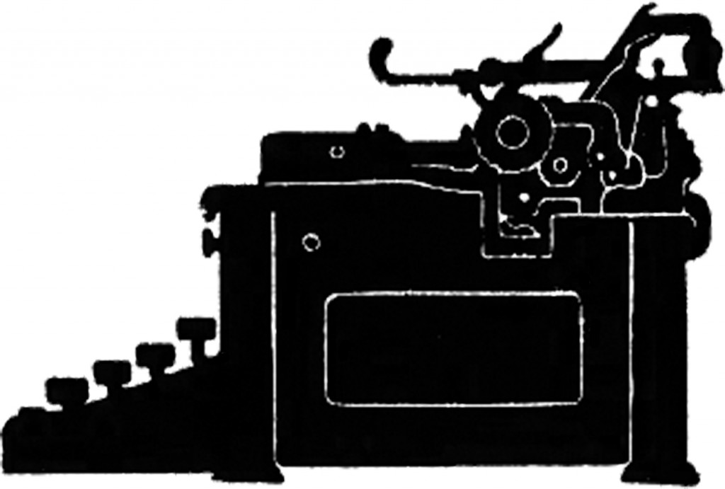 Vintage Typewriter Silhouette Image! - The Graphics Fairy