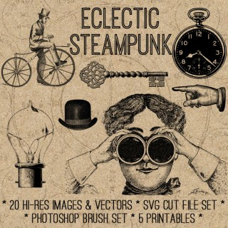 Eclectic Steampunk SVG Kit! TGF Premium