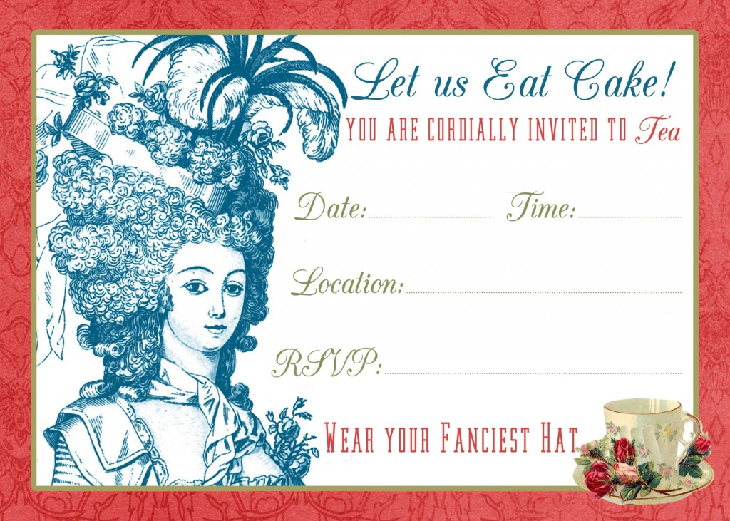 Tea Party Invite Printable Amp Tutorial The Graphics Fairy