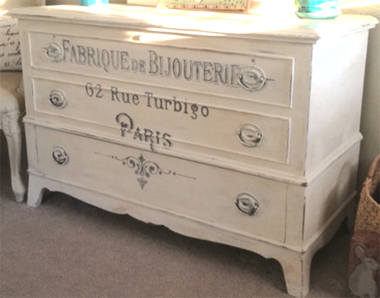 07 French White Dresser Regina