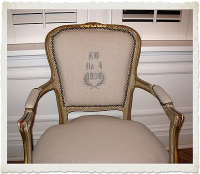 08 - Otherwise Occupied - Monogrammed French Chair