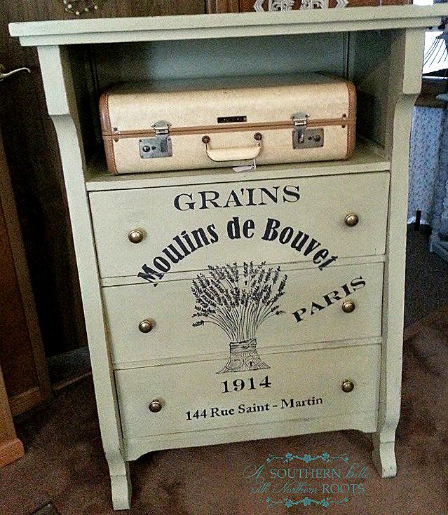08 - Southern Belle - Grain Sack Dresser