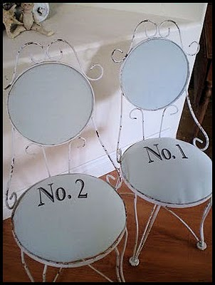 13 - Nice and Easy Antiques - Vintage Number Chairs