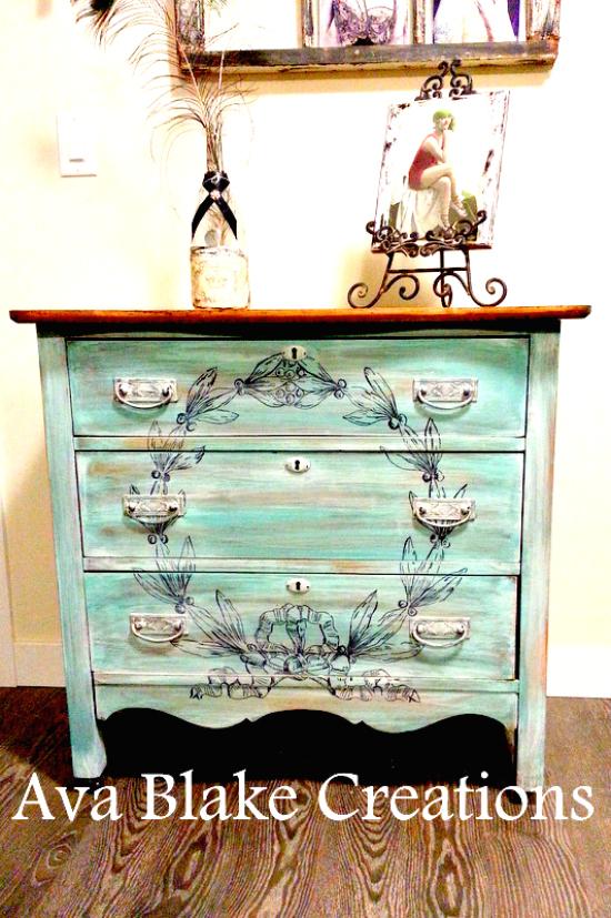 15 ava blake wreath dresser - Painted Dressers