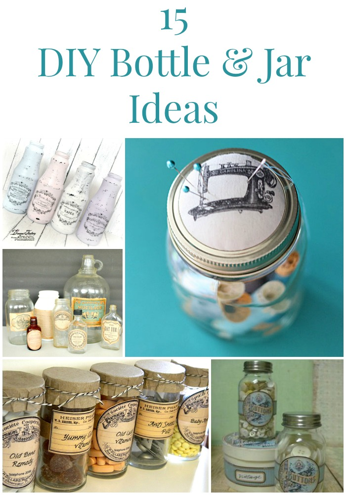 15 diy bottle and jar ideas the graphics fairy for Diy bottles and jars