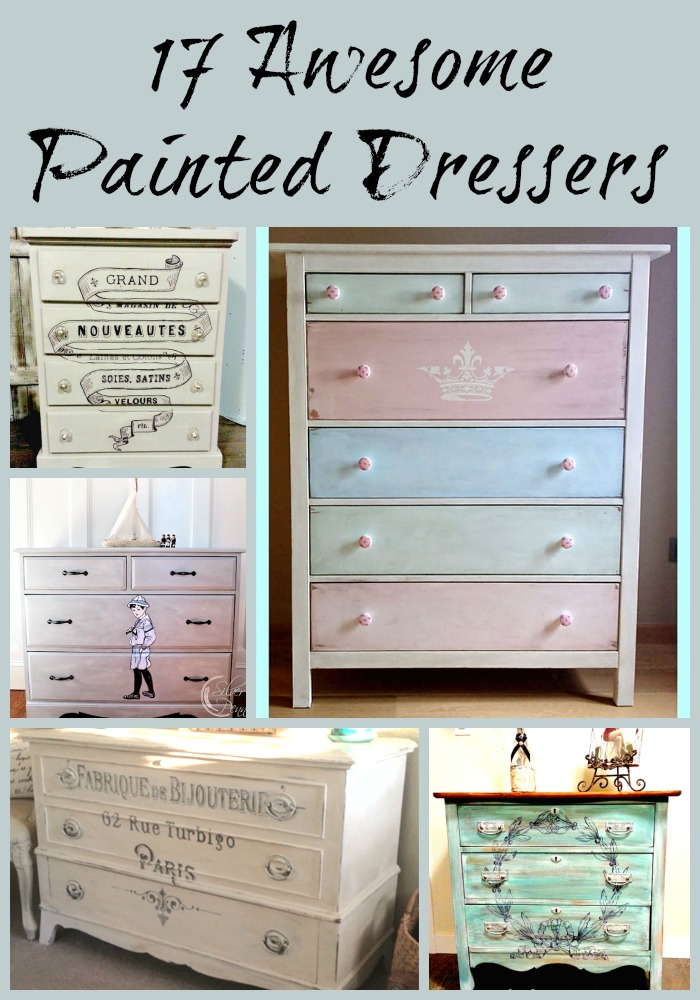17 awesome painted dressers the graphics fairy - Paint wooden dresserwonderful ideas ...