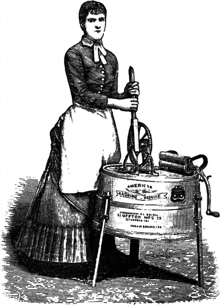 Antique Laundry Lady Image