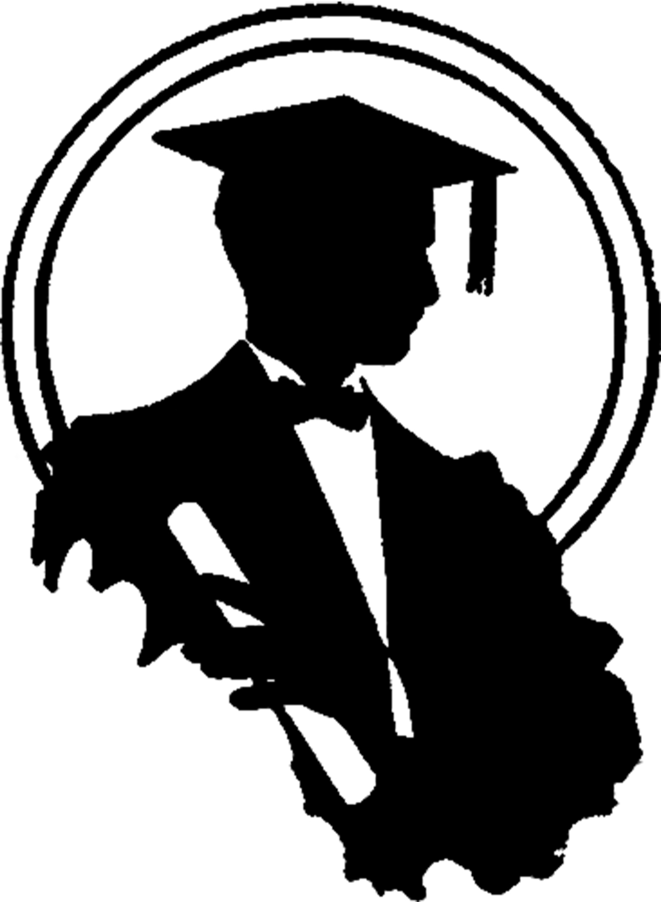 Graduation Silhouette Image - Young Man - The Graphics Fairy