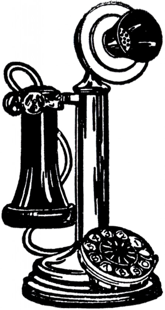vintage telephone clipart - photo #2