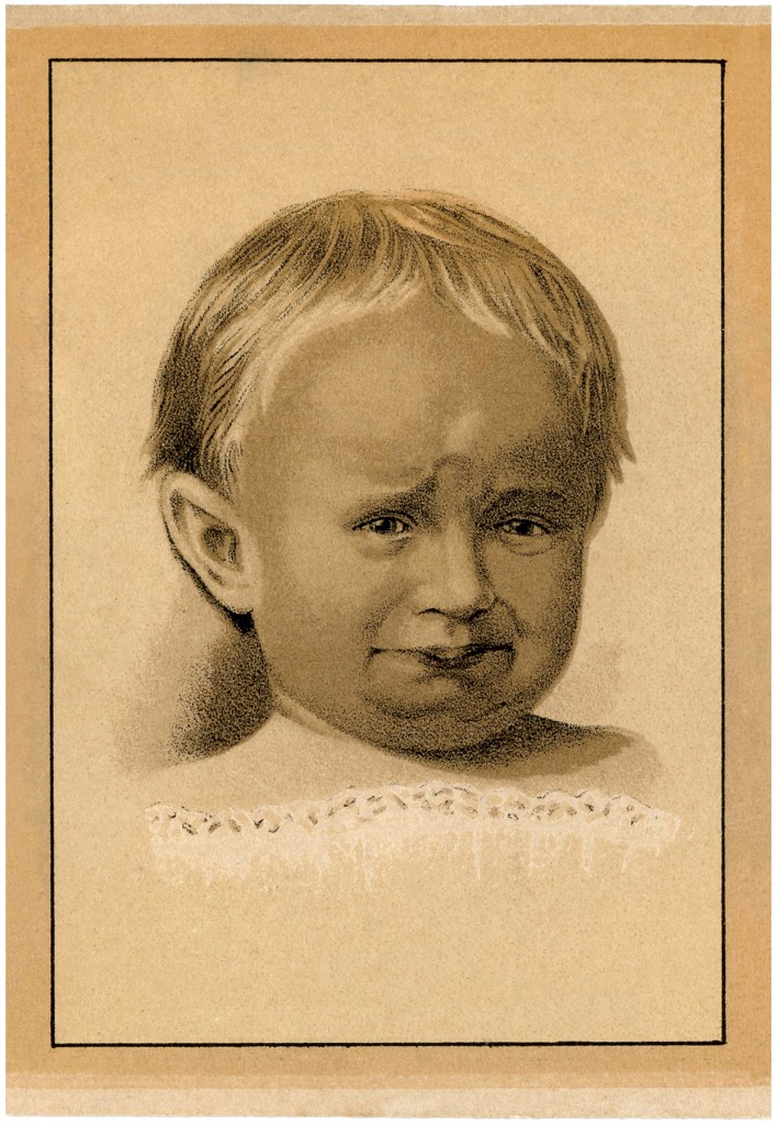 Vintage Cranky Baby Image
