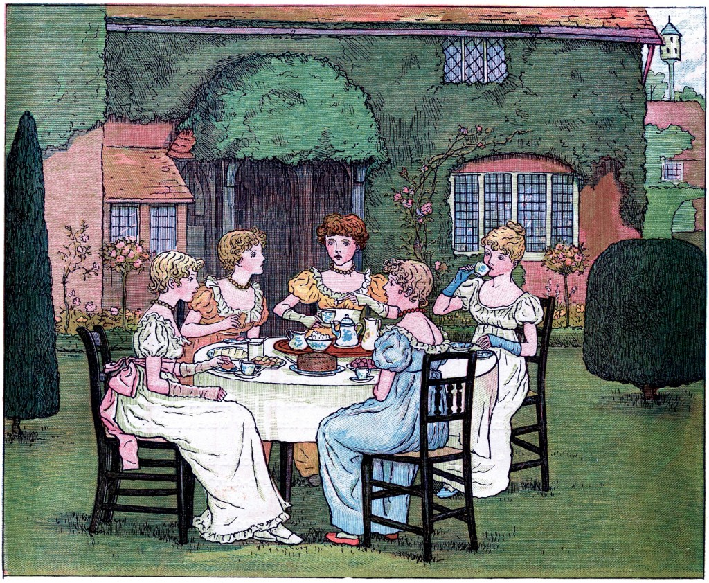 Vintage Garden Tea Party Image