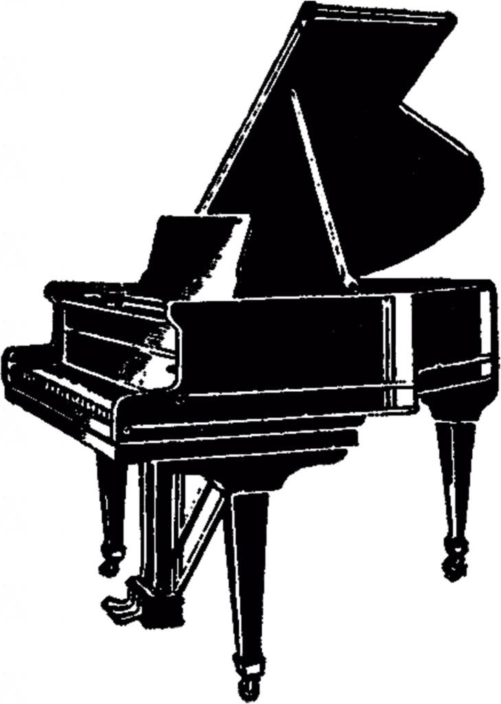 Vintage Grand Piano Image